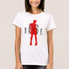 Team Bride Wedding Cat Woman by VIMAGO T-Shirt - bridal party gifts wedding ideas diy custom