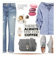 """Coffee date"" by dina-795 ❤ liked on Polyvore featuring Current/Elliott, Boohoo, Gap, Salvatore Ferragamo, CLUSE and CoffeeDate"