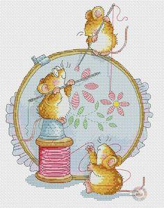 Margaret Sherry's stitching mice.photo