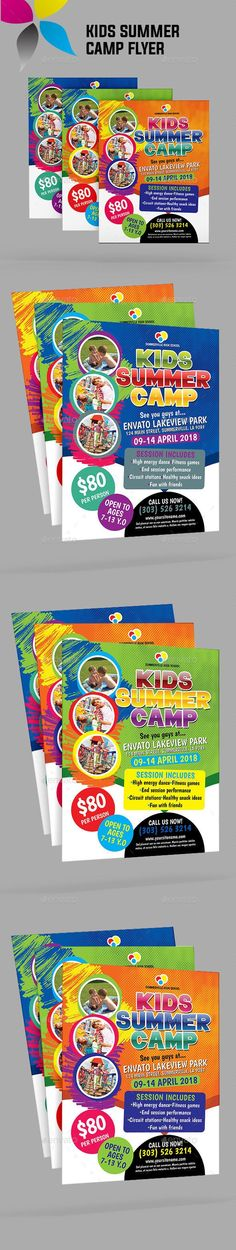 Kids Summer Camp Flyer  Flyer Printing Print Templates And Template