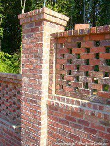This is the classic version of a pierced brick wall.