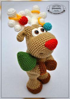 Представляю вам Новогоднего Оленя! Этот малыш спешит украсить ваш дом, внести в него праздничное настроение и подарить массу позитива!