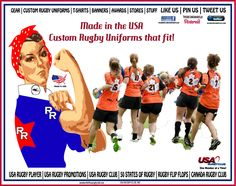 THE TEAM LIKES MADE IN THE USA - RUGBY UNIFORMS - IT KEEPS RUGBY ROSIE PLAYING. WEAR USA RUGBY CLUB UNIFORMS