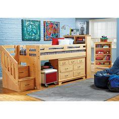 Carter's Kids Collection Lost Creek Pine Twin Jr. Step Bunk Bedroom