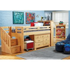 Carter's Kids Collection Lost Creek Pine Twin Jr. Step Bunk Bedroom