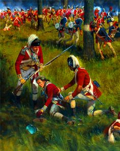 Death of 17 year old Ensign Henry Young of the Royal Artillery at the Battle of Saratoga