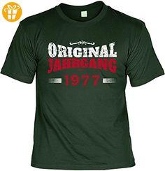 T-Shirt zum Geburtstag: Original Jahrgang 1977 - Tolle Geschenkidee - Baujahr 1977 - Farbe: dunkelgrün - T-Shirts mit Spruch | Lustige und coole T-Shirts | Funny T-Shirts (*Partner-Link)