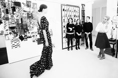 Carolina Herrera Fall 2014 - decisions to be made! fashion design, behind the scenes