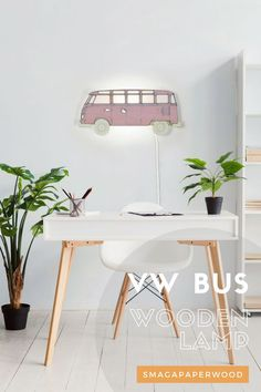 Inspired by Volkswagen Bus wooden  lamp design is a timeless, cheerful decor for home. Find more lamp designs  in SmagaPaperwood store!#vwbus #lamplivingroom #lampdesigns #volkswagencamper #vwcamper #vwwestfalia #vintagevolkswagen #lampbedroom #officedecor #officelamp #lamplights
