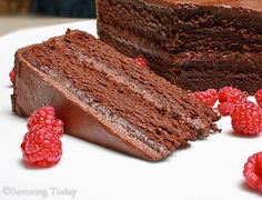 Chocolate Cake #GlutenFree #recipe from @SavoringToday