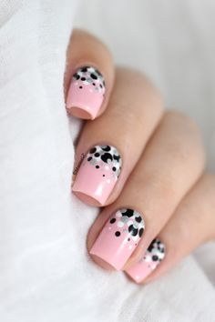 Confetti nail art video tutorial with NCLA Not So Sweet.