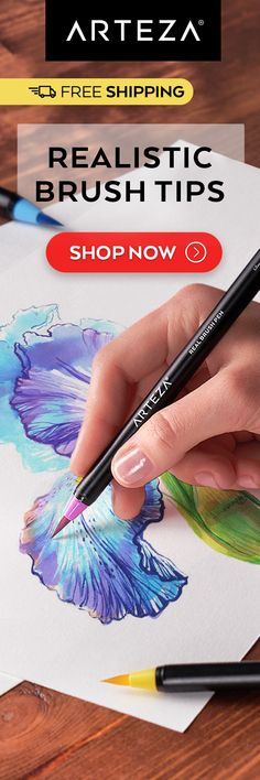 🔥Limited stock!🔥 Watercolor Techniques, Painting Techniques, Painting Tips, Painting & Drawing, Pen Sets, Copics, Pics Art, Brush Pen, Learn To Paint
