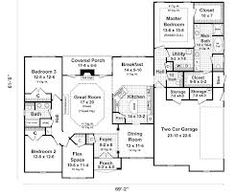 one story 4 bedroom  2 bath traditional style house plan ranch home plans with walkout basements Ranch Homes with Walkout Basement