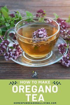 Oregano Tea Benefits, Herbal Remedies, Home Remedies, Homemade Tea, Nutrition Information, How To Dry Oregano, Herbal Medicine, Healthy Life, Herbalism