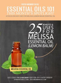 Oil Spotlight // 25+ Amazing Uses and Benefits of Melissa Essential Oil, or commonly known as Lemon Balm (one of the best natural remedies for cold sores and herpes, viral and bacterial infections and more!) - Fresh Mommy Blog