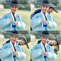 한복 Hanbok : Korean traditional clothes[dress] Park Bo Gum nấp sau Kim Yoo Jung cực dễ thương