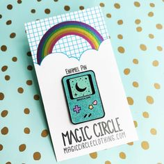 Magic Girl Game Pin from Magic Circle hard enamel in pretty mint blue glitter and a black nickel metalRubber clutch Window Shopper, Magic Circle, Mint Blue, Games For Girls, Blue Glitter, Magical Girl, Enamel, Pretty, Black