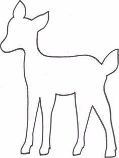 - Kreatyve: DIY deer pillow + freebie template more Informations About Kreatyve: DIY Reh Kissen + Free - Felt Patterns, Scroll Saw Patterns, Applique Patterns, Felt Christmas, Christmas Crafts, Deer Outline, Fall Crafts, Crafts For Kids, Deer Pillow