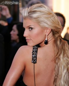 Jessica Simpson-I love the slight bump on her nose that you see from the profile. It differentiates her from a lot of the blond bombshells of Hollywood.