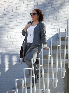 Smoke and Mirrors: Grey merino blend coatigan, stretch jeans, BCBG silver snakeskin booties, LeSpecs sunglasses, Rebecca Minkoff Vanity bag Plus Size Workwear, Plus Size Jeans, Petite Fashion, Plus Size Fashion, Metallic Jacket, Plus Size Boutique, Trendy Dresses, Outfit Posts, Fashion 2017