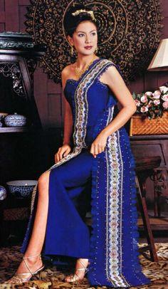 Traditional thai evening dress