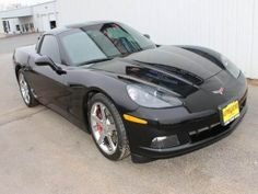 There is just something special about the Chevy Corvette and this 2007 Chevy Corvette casts a sleek black profile that begs to be driven. #corvette