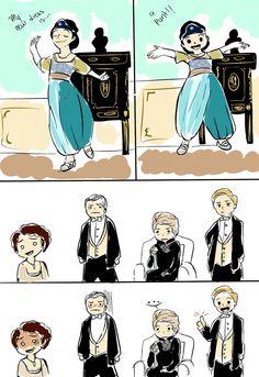 A funny comic of Downton Abbey