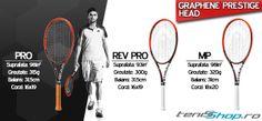 TeniSShop.ro iti prezinta cele mai noi rachete tenis Head cu cele mai noi tehnologii folosite in stabilirea unui raport de putere/control  in functie de stilul de joc. Mai, Tennis Racket, Tennis