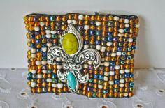 Beaded Fleur De Lis Bracelet Fall Winter by GinasCornerCrafts, $32.00