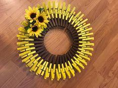 16 Sunflower Clothespin Wreath