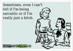 Probably just a bitch lol  funny someecards, funny  #ecard #humor #sarcasm @Maria Robles