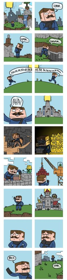 The never ending cycle of Minecraft building its when your building something and you just wanna make it BIGGER
