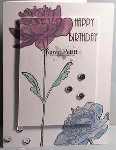 2016 April 21 @ Karen's Crafting Obsessions: Tim Holtz stamp set; Spectrum Noir AquaTiints; Spectrum Noir Sparkle; Versafine IP