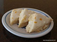 Orange Scones - I love the orange scones at Panera Bread and this is a knock-off recipe!