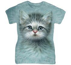 Blue Eyed Kitten Ladies Tee Shirt 3D T-Shirt Animal Women Tees >> http://www.amazon.com/dp/B01GE097SA