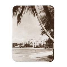 >>>Coupon Code Magnet Vintage Pink Palace Waikiki Beach WWII R&R Magnet Vintage Pink