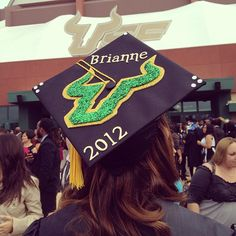 Help your loved ones easily spot you during the ceremony by adding your name to your #USF mortar board.