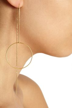 Maria Black | Monocle gold-plated earrings | NET-A-PORTER.COM