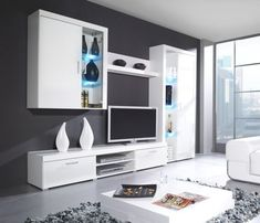 Buy home modern furniture online. We specialize in Modern Contemporary Furniture for your home. 3 Living Rooms, Living Room Wall Units, Living Room Designs, Entertainment Center Furniture, Living Room Entertainment Center, Entertainment Stand, Tv Unit Design, Tv Wall Design, Tv Stand With Storage