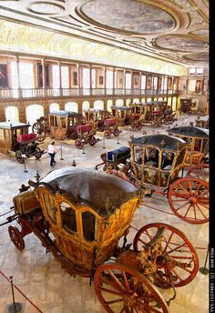 National Coach Museum in Lisbon – Museu Nacional dos Coches – in Belem, Lisbon, Portugal #portulogia