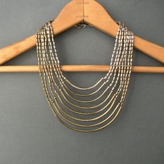 Vintage Tribal Metal Necklace  70s Statement by TheDeeps on Etsy, $80.00