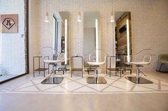 Hairdresser interior design.