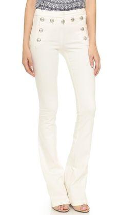 "Veronica Beard Sailor Pants 18"" leg opening, 38"" inseam ! $395 USD"