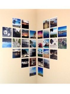 DIY: A cute way to hang up all your pictures on your wall!
