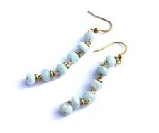 Earrings Turquoise Gold - by Petra Reijrink