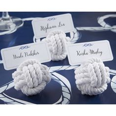 The nautical rope knot place card holder favors are a delightful reminder of your strong bond as a newlywed couple and is perfectly consistent with your nautical wedding theme. Nautical Wedding Favors, Beach Wedding Reception, Nautical Theme, Nautical Rope, Wedding Souvenir, Wedding Venues, Wedding Coordinator, Wedding Favours, Wedding On A Boat
