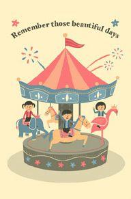 Sweet carousel illustration; from tomo-com.com