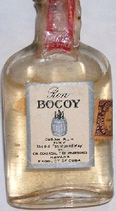 """Drank a whole bottle of rum, Ron Bocoy White Rum"""