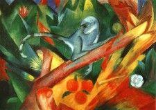 Das Äffchen - Franz Marc - Gemälde Reproduktionen in Premium Qualität auf paintify.de #paintify #Kunst #Dekoration #Franz_Mark #shopping #handgemalt  #Gemaelde #Oelgemaelde #Foto  #Reproduktionen #Alte_Meister #Geschenk #personalisierte #Geschenke #Geschenkidee #Geschenkideen #historisch #Tiere #Animals