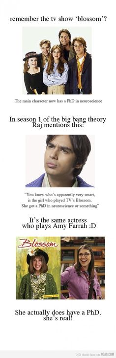 I knew this, but I think it is hilarious that Raj does mention this long before Amy Farrah Fowler!